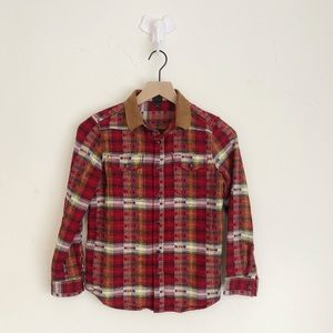 Boys Art Class Plaid Flannel Shirt Size M (8/10)